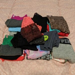 Huge lot of 20 Pink Victoria Secret Panties Med